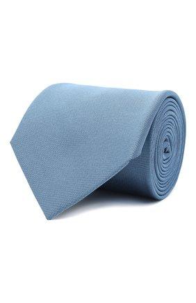Мужской шелковый галстук LANVIN голубого цвета, арт. 3047/TIE   Фото 1