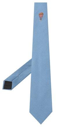 Мужской шелковый галстук LANVIN голубого цвета, арт. 3047/TIE   Фото 2