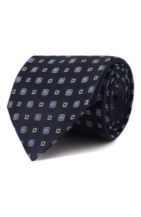 Мужской шелковый галстук LANVIN синего цвета, арт. 3056/TIE   Фото 1
