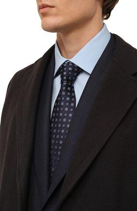 Мужской шелковый галстук LANVIN синего цвета, арт. 3056/TIE   Фото 2