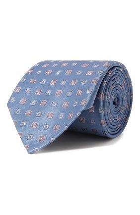 Мужской шелковый галстук LANVIN голубого цвета, арт. 3056/TIE   Фото 1
