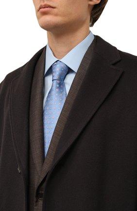 Мужской шелковый галстук LANVIN голубого цвета, арт. 3056/TIE   Фото 2