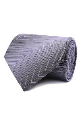Мужской шелковый галстук LANVIN сиреневого цвета, арт. 3056/TIE | Фото 1