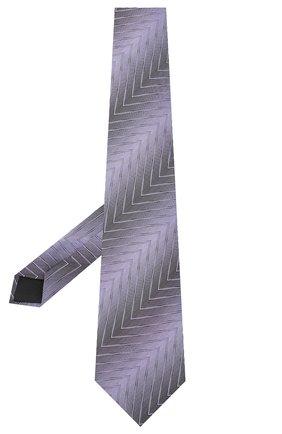 Мужской шелковый галстук LANVIN сиреневого цвета, арт. 3056/TIE | Фото 2