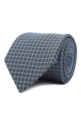 Мужской шелковый галстук LANVIN голубого цвета, арт. 3163/TIE   Фото 1