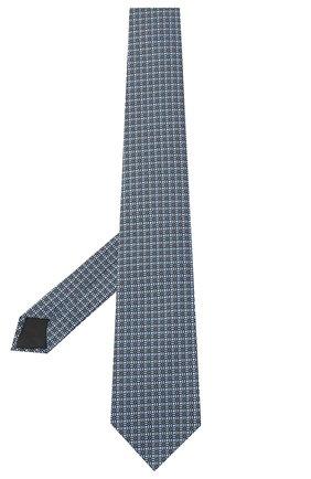 Мужской шелковый галстук LANVIN голубого цвета, арт. 3163/TIE   Фото 2