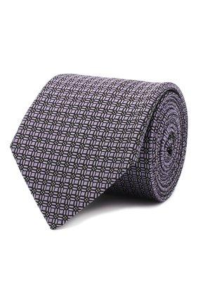 Мужской шелковый галстук LANVIN сиреневого цвета, арт. 3163/TIE | Фото 1