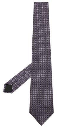 Мужской шелковый галстук LANVIN сиреневого цвета, арт. 3163/TIE | Фото 2