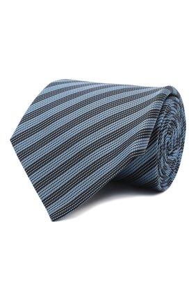 Мужской шелковый галстук LANVIN голубого цвета, арт. 3166/TIE   Фото 1