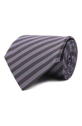 Мужской шелковый галстук LANVIN сиреневого цвета, арт. 3166/TIE | Фото 1