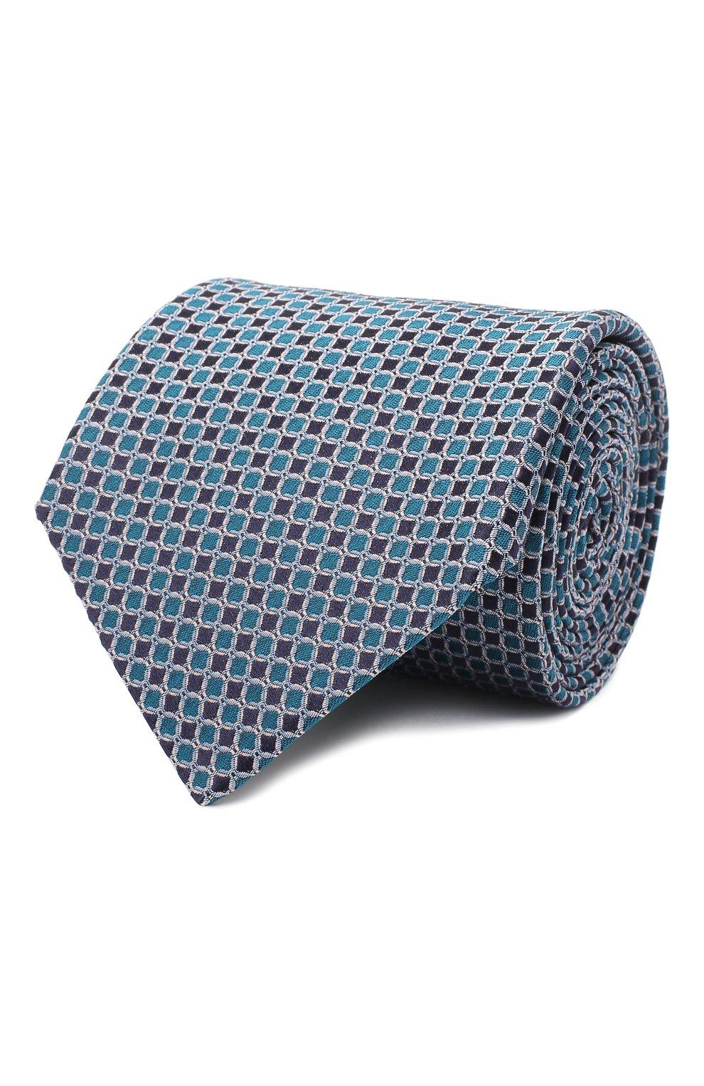 Мужской шелковый галстук LANVIN бирюзового цвета, арт. 3178/TIE | Фото 1