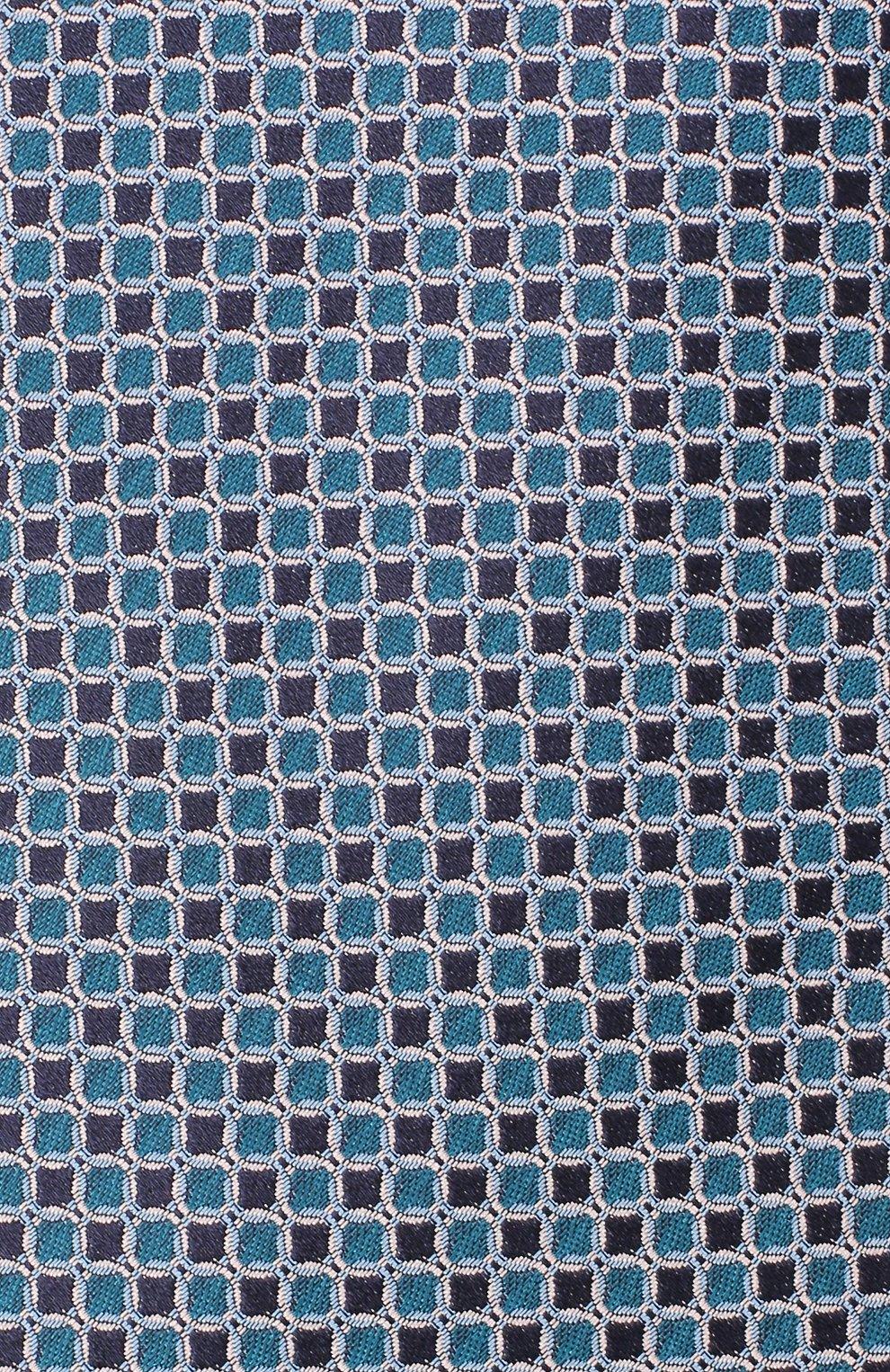 Мужской шелковый галстук LANVIN бирюзового цвета, арт. 3178/TIE | Фото 3