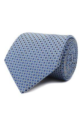 Мужской шелковый галстук LANVIN синего цвета, арт. 3178/TIE   Фото 1