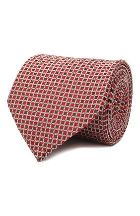 Мужской шелковый галстук LANVIN бордового цвета, арт. 3178/TIE | Фото 1