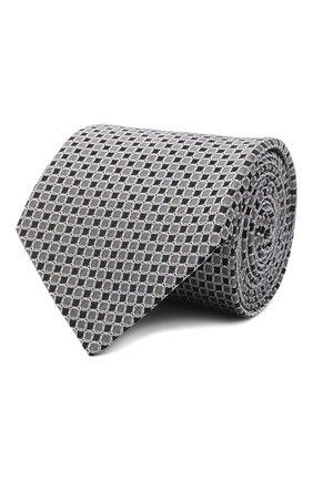 Мужской шелковый галстук LANVIN серого цвета, арт. 3178/TIE | Фото 1