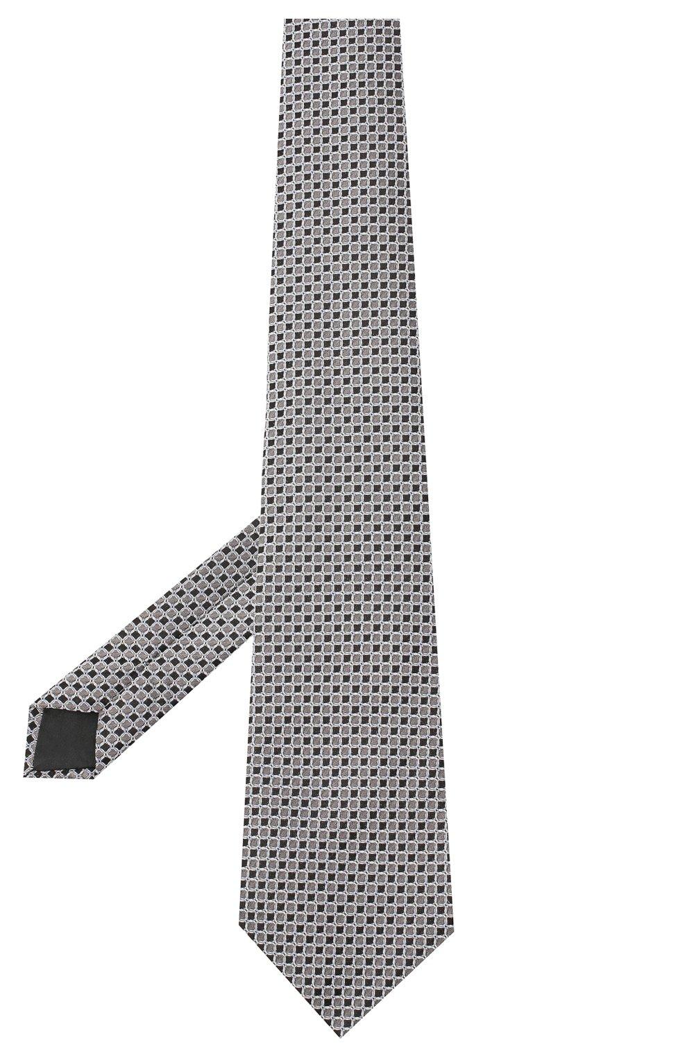 Мужской шелковый галстук LANVIN серого цвета, арт. 3178/TIE | Фото 2