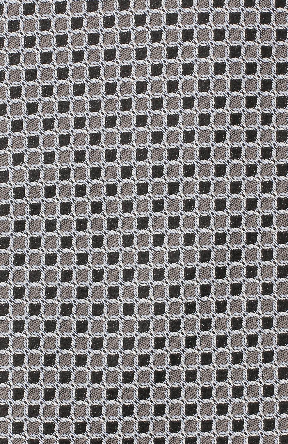 Мужской шелковый галстук LANVIN серого цвета, арт. 3178/TIE | Фото 3