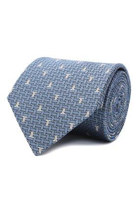 Мужской шелковый галстук LANVIN голубого цвета, арт. 3203/TIE   Фото 1