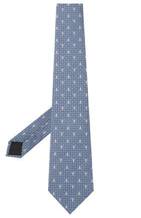 Мужской шелковый галстук LANVIN голубого цвета, арт. 3203/TIE   Фото 2