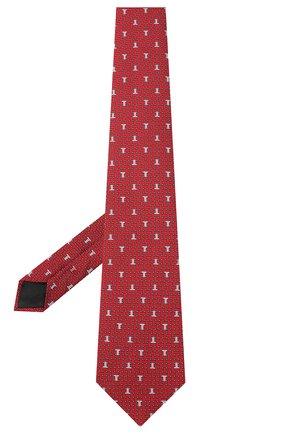 Мужской шелковый галстук LANVIN бордового цвета, арт. 3203/TIE | Фото 2