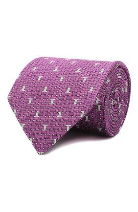 Мужской шелковый галстук LANVIN сиреневого цвета, арт. 3203/TIE | Фото 1