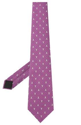 Мужской шелковый галстук LANVIN сиреневого цвета, арт. 3203/TIE | Фото 2