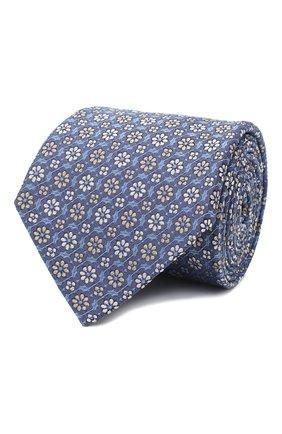 Мужской шелковый галстук LANVIN синего цвета, арт. 3224/TIE   Фото 1