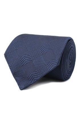Мужской шелковый галстук LANVIN темно-синего цвета, арт. 3233/TIE   Фото 1