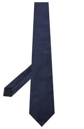 Мужской шелковый галстук LANVIN темно-синего цвета, арт. 3233/TIE   Фото 2