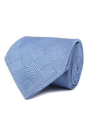 Мужской шелковый галстук LANVIN голубого цвета, арт. 3233/TIE   Фото 1