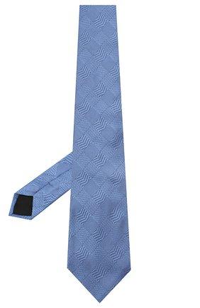 Мужской шелковый галстук LANVIN голубого цвета, арт. 3233/TIE   Фото 2