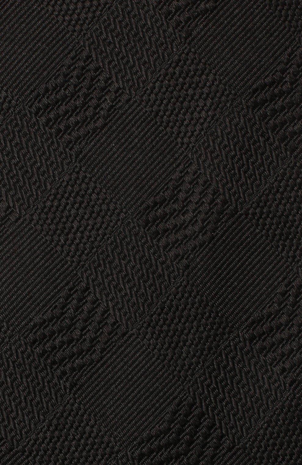 Мужской шелковый галстук LANVIN черного цвета, арт. 3233/TIE | Фото 3