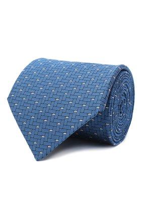 Мужской шелковый галстук LANVIN синего цвета, арт. 3245/TIE   Фото 1