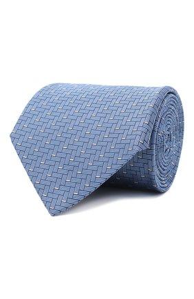 Мужской шелковый галстук LANVIN голубого цвета, арт. 3245/TIE   Фото 1