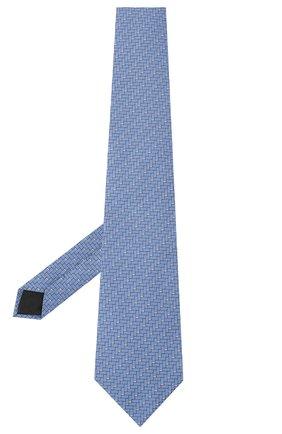 Мужской шелковый галстук LANVIN голубого цвета, арт. 3245/TIE   Фото 2