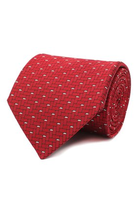 Мужской шелковый галстук LANVIN красного цвета, арт. 3245/TIE | Фото 1