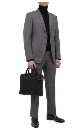 Мужская кожаная сумка для ноутбука TOM FORD черного цвета, арт. H0426P-LG0011 | Фото 2