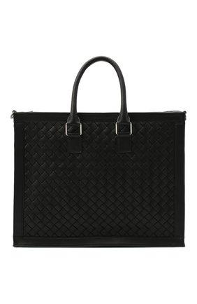 Мужская кожаная сумка BOTTEGA VENETA черного цвета, арт. 641025/V05J1 | Фото 1