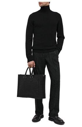 Мужская кожаная сумка BOTTEGA VENETA черного цвета, арт. 641025/V05J1 | Фото 2