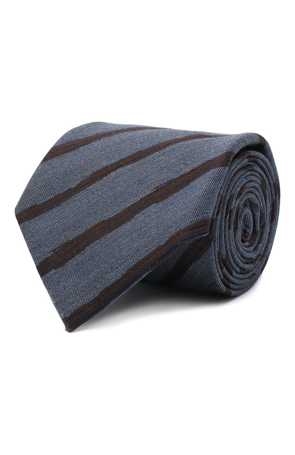 Мужской галстук из шелка и шерсти ERMENEGILDO ZEGNA синего цвета, арт. Z8E33/18H | Фото 1