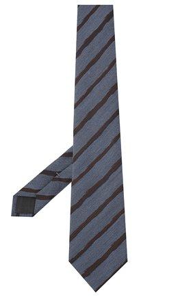 Мужской галстук из шелка и шерсти ERMENEGILDO ZEGNA синего цвета, арт. Z8E33/18H | Фото 2