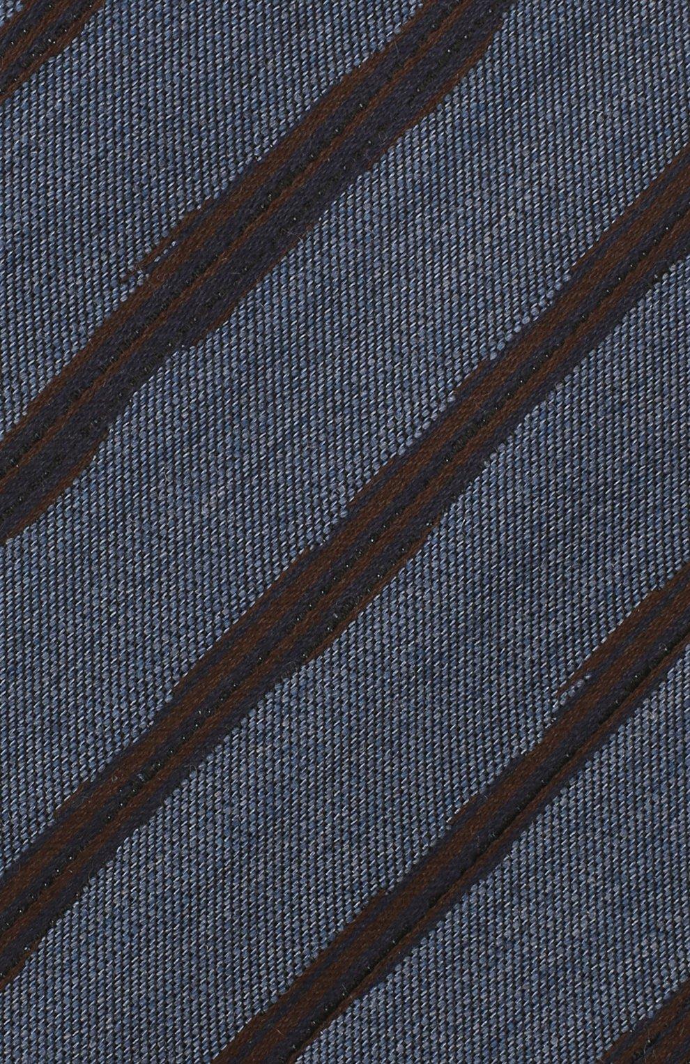 Мужской галстук из шелка и шерсти ERMENEGILDO ZEGNA синего цвета, арт. Z8E33/18H | Фото 3