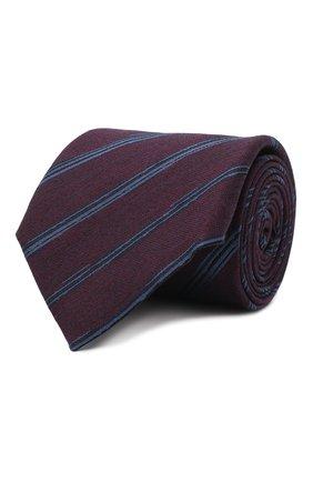 Мужской галстук из шелка и шерсти ERMENEGILDO ZEGNA фиолетового цвета, арт. Z8E33/18H | Фото 1