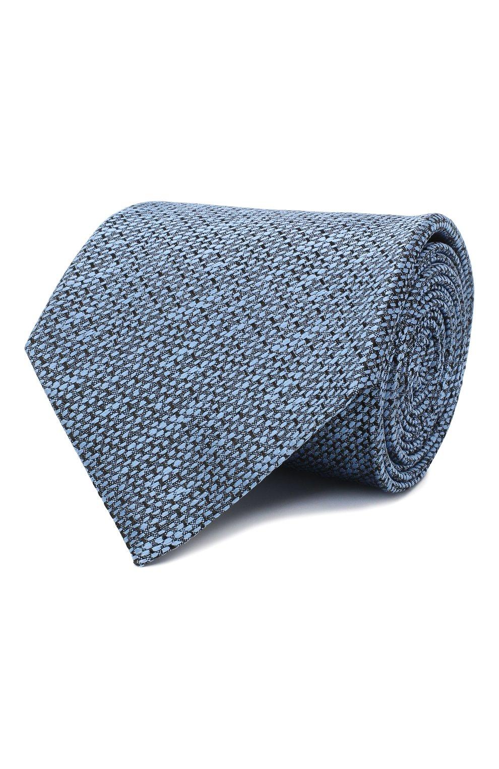 Мужской шелковый галстук ERMENEGILDO ZEGNA голубого цвета, арт. Z8E45/1UM   Фото 1
