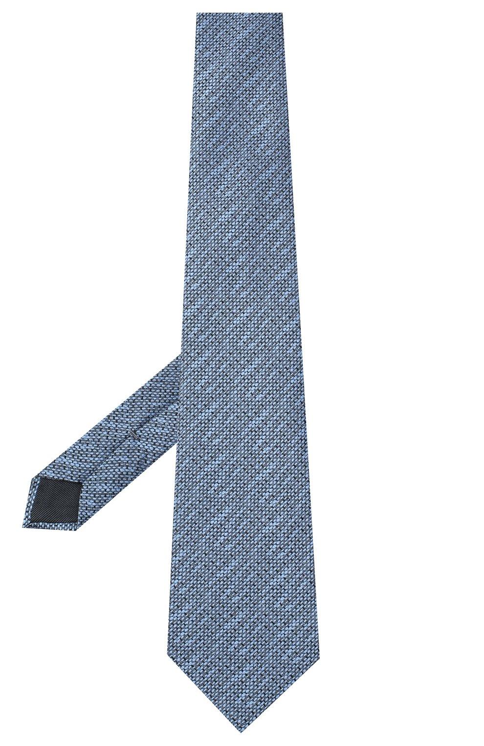 Мужской шелковый галстук ERMENEGILDO ZEGNA голубого цвета, арт. Z8E45/1UM   Фото 2
