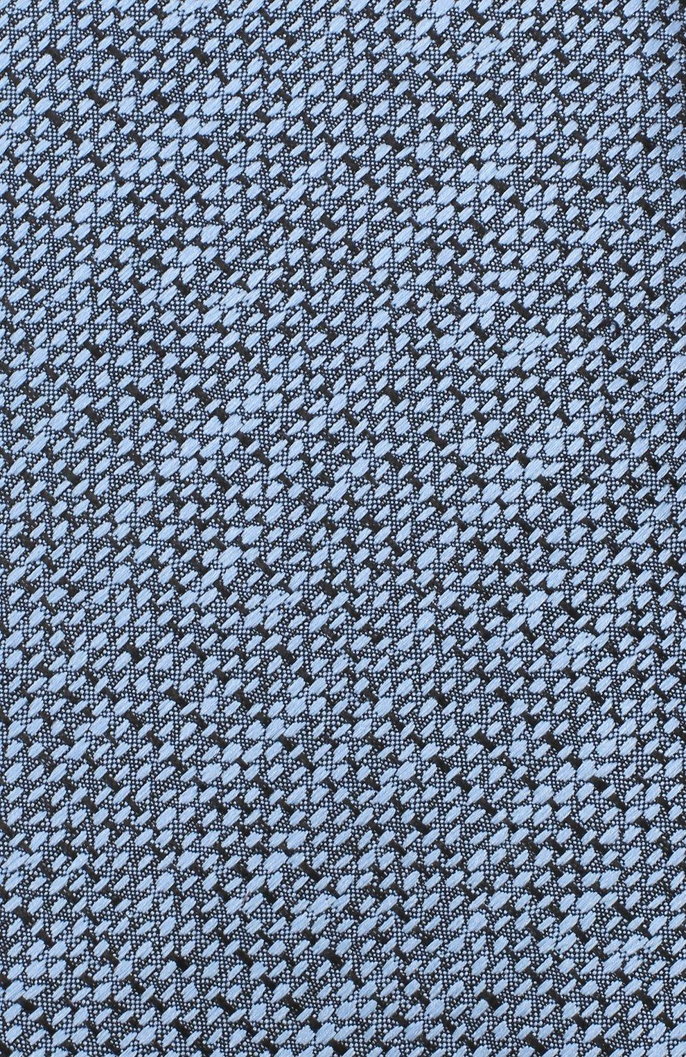 Мужской шелковый галстук ERMENEGILDO ZEGNA голубого цвета, арт. Z8E45/1UM   Фото 3