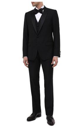 Мужской кожаные дерби BRIONI темно-серого цвета, арт. QEEX0L/P6757 | Фото 2