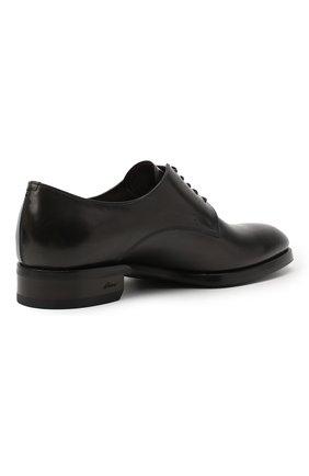 Мужские кожаные дерби BRIONI темно-серого цвета, арт. QEEX0L/P6757 | Фото 4