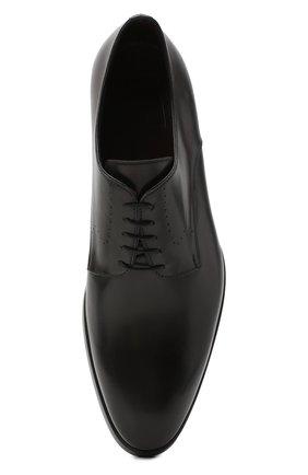 Мужские кожаные дерби BRIONI темно-серого цвета, арт. QEEX0L/P6757 | Фото 5