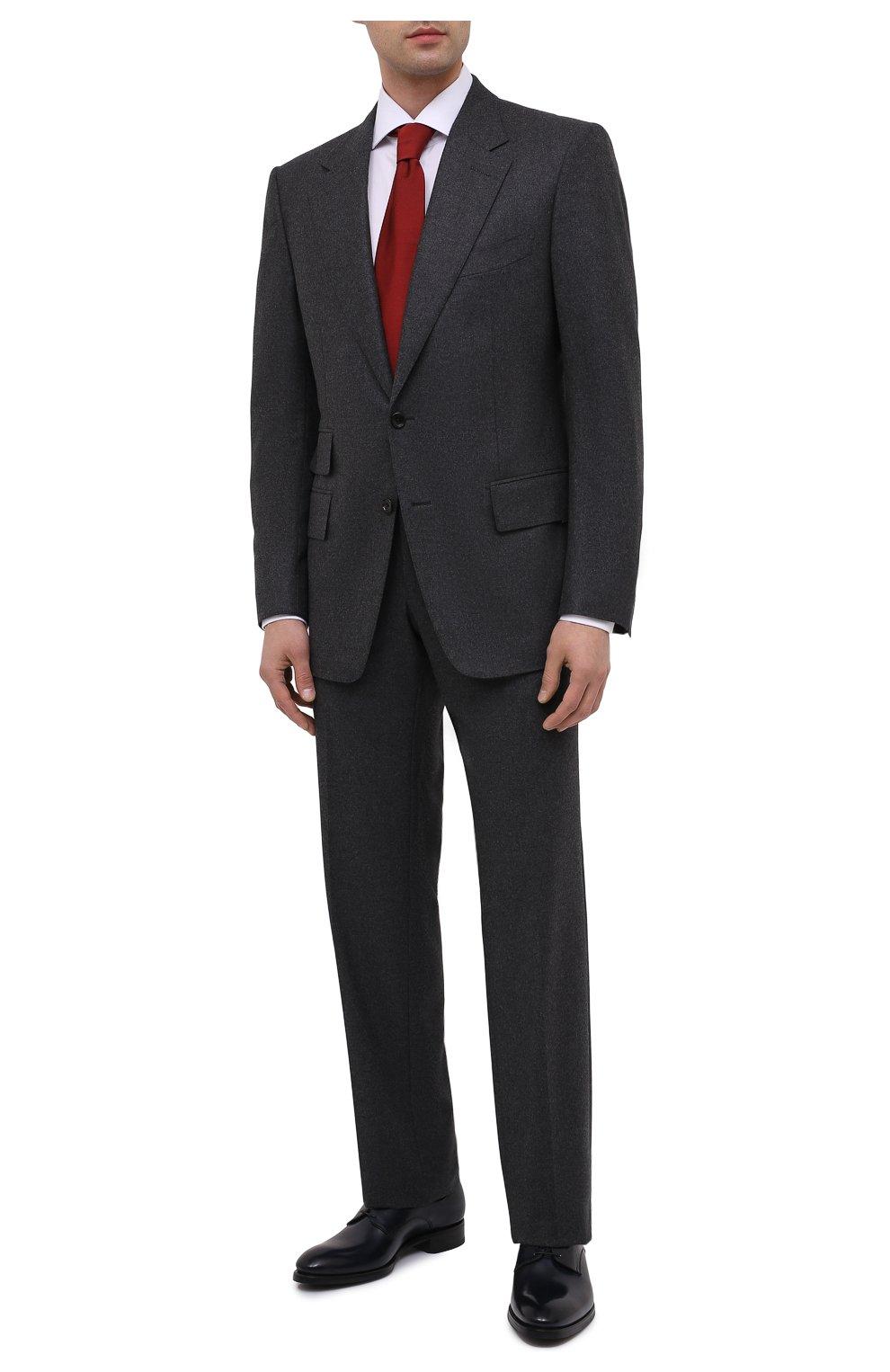 Мужские кожаные дерби BRIONI темно-синего цвета, арт. QEEX0L/P6757 | Фото 2